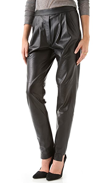 Nicholas Leather Track Pants