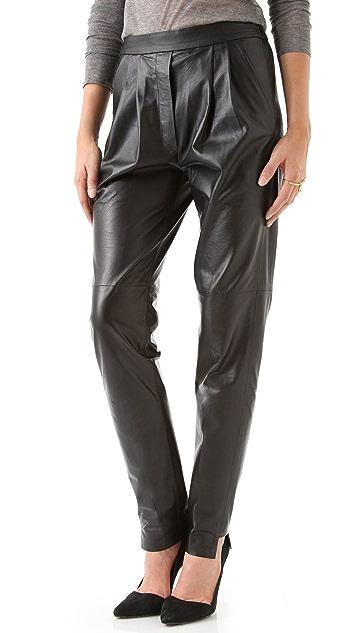 Nicholas Leather Track Pants