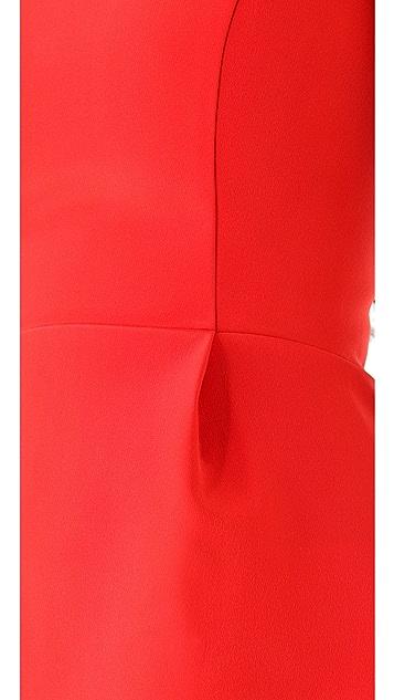 Nicholas Bonded Silk Peplum Top