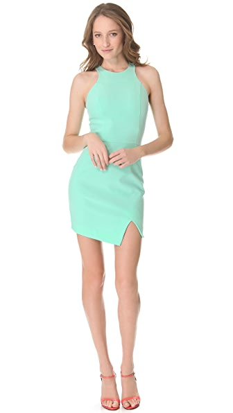 Nicholas Bonded Silk Racer Dress