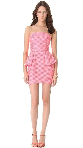Nicholas Jacquard Strapless Dress