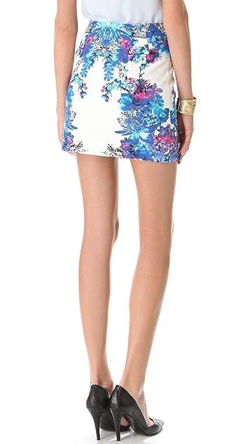 Nicholas Botanical Angled Skirt