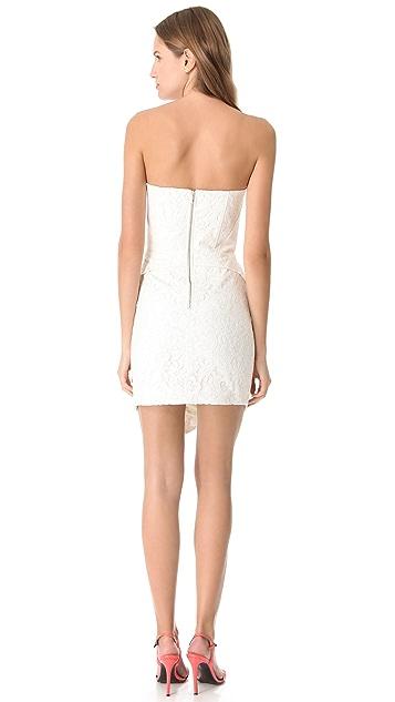 Nicholas Camellia Lace Strapless Dress