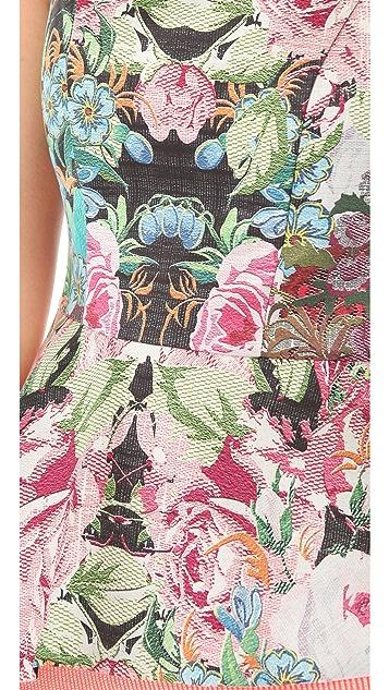 Nicholas Tapestry Print Peplum Top