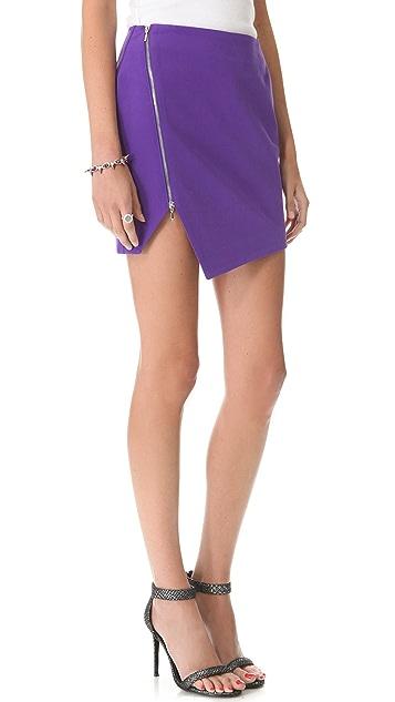 Nicholas Bonded Zip Skirt