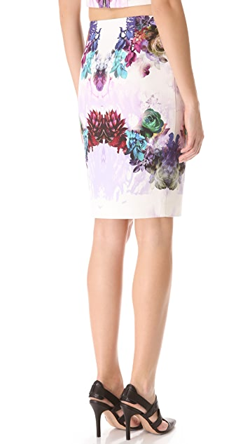 Nicholas Digi Floral Denim Skirt
