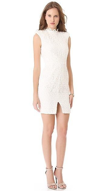 Nicholas Peony Lace High Neck Dress