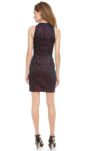 Nicholas Velvet Jacquard High Neck Dress