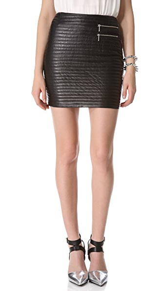 Nicholas Quilted Leather Skirt