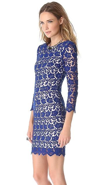 Nicholas Peony Lace Shift Dress