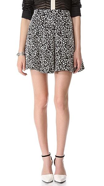 Nicholas Leopard Ponte Skirt