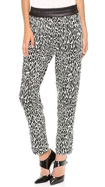 Nicholas Graphic Leopard Track Pants