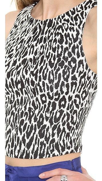 Nicholas Graphic Leopard Crop Top