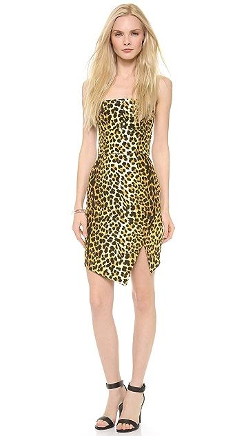 Nicholas Leopard Strapless Dress