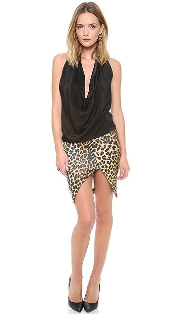 Nicholas Leopard Split Pencil Skirt