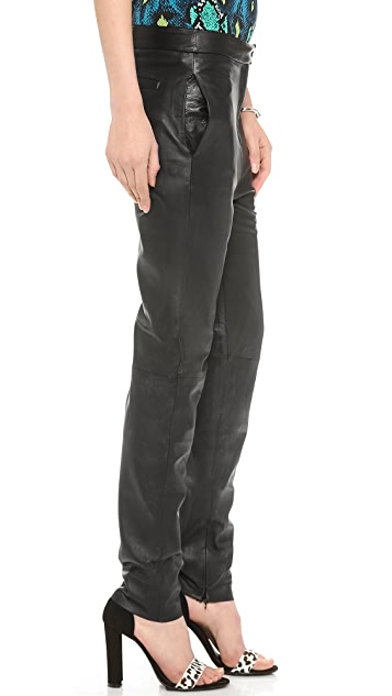 Nicholas Leather Tailored Pants
