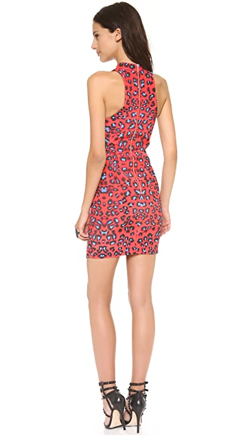 Nicholas Leopard Print Racer Dress