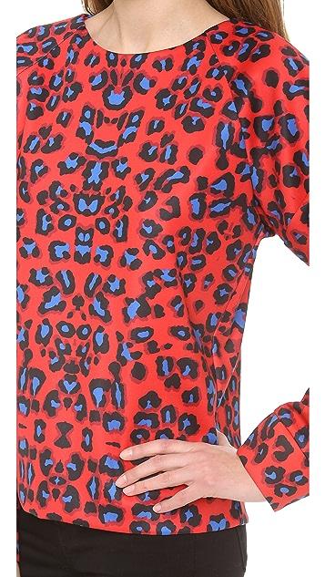 Nicholas Leopard Print Top