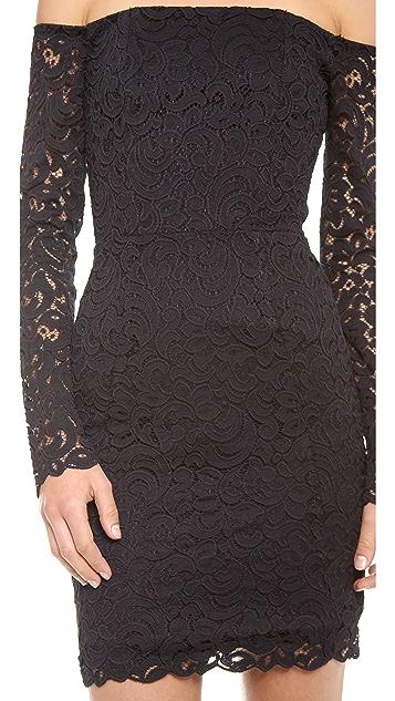 Nicholas Paisley Lace Off Shoulder Dress