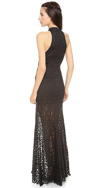 Nicholas Paisley Lace Maxi Dress