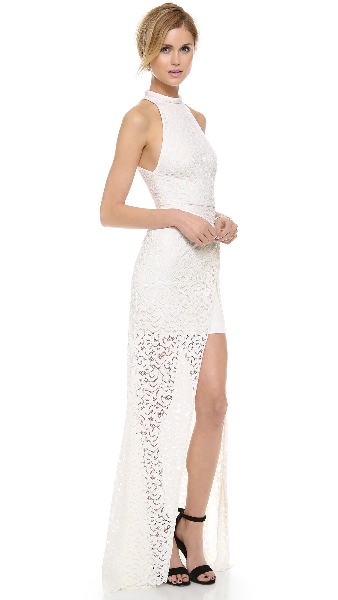 Nicholas Paisley Lace Maxi Dress   SHOPBOP
