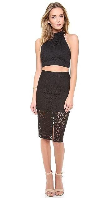 Nicholas Paisley Lace Pencil Skirt