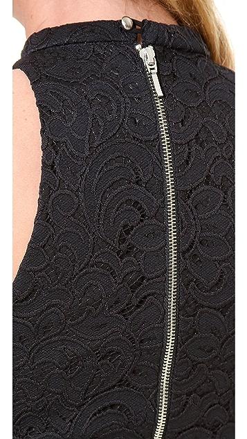 Nicholas Paisley Lace Crop Top
