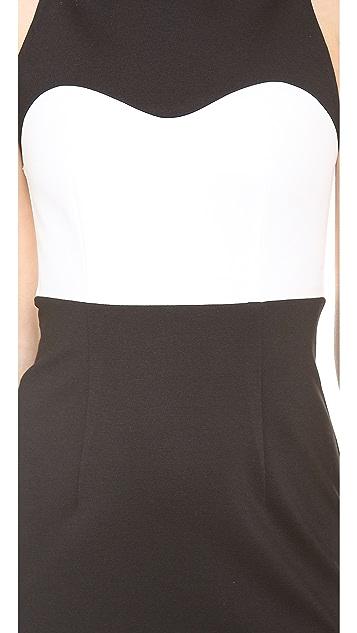Nicholas High Neck Contrast Dress