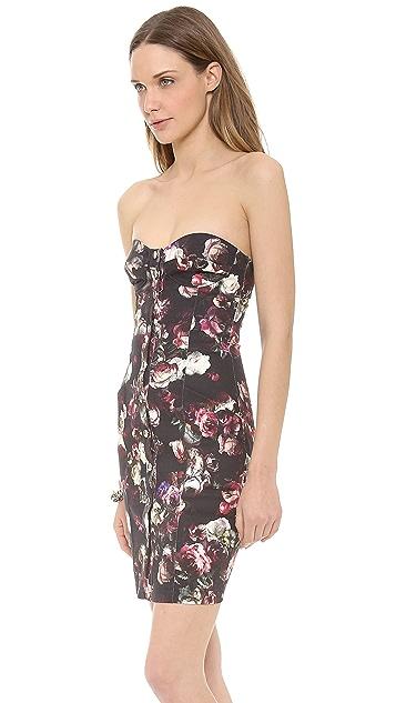 Nicholas Romantic Floral Strapless Dress