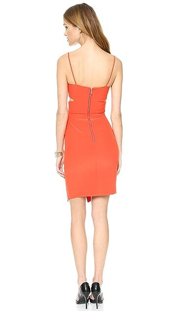 Nicholas Bonded Silk Cutout Dress