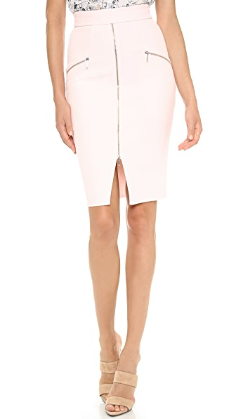 Nicholas Bonded Silk Pencil Skirt
