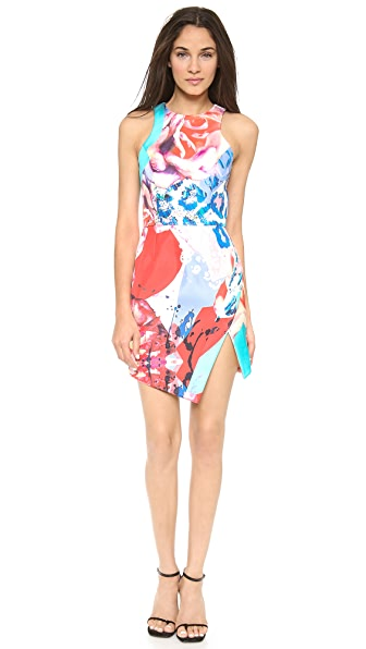 Nicholas Floral Collage Wrap Dress