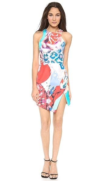 Nicholas Floral Collage Wrap Dress