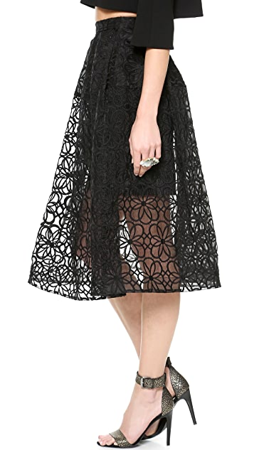 Nicholas Lace Mid Length Ball Skirt