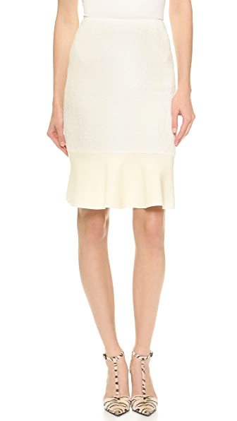 Nicholas Ornate Ponte Pencil Skirt