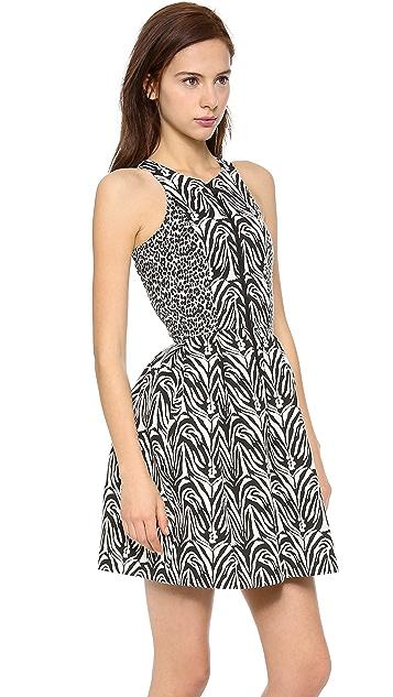 Nicholas Zebra Zip Front Dress