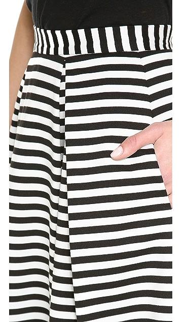 Nicholas Striped Ball Gown Skirt