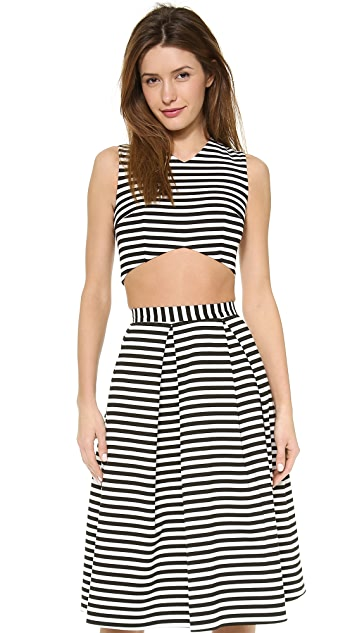 Nicholas Striped Crop Top