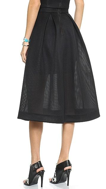 Nicholas Embroidered Mesh Ball Skirt