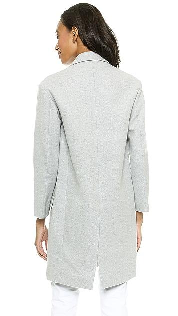 Nicholas Felted Wool Full Length Coat