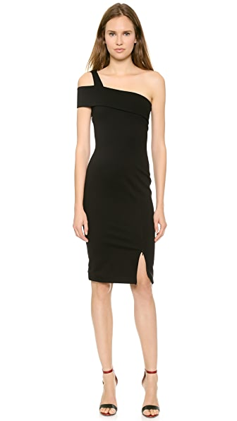 Nicholas Ponte Wrap Backless Dress
