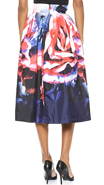 Nicholas Thermo Floral Pleated Skirt