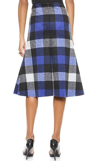 Nicholas Ultracheck Flared Skirt