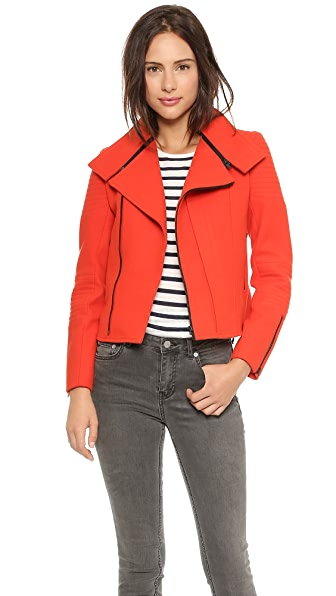 Nicholas Wool Zip Collar Biker Jacket