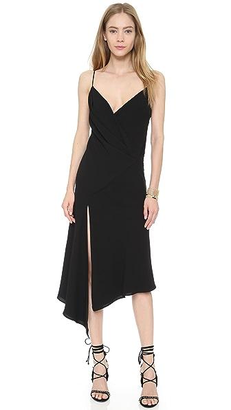 Nicholas Bias Wrap Drape Dress - Black