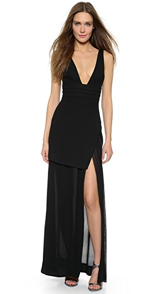 Nicholas Wrap Double Layer Gown