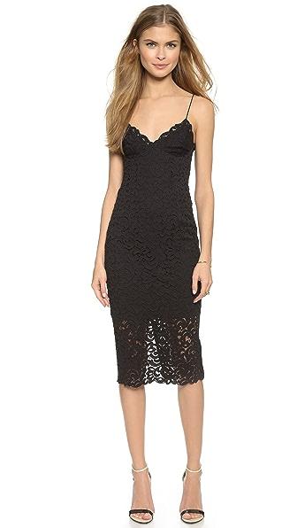 Shop Nicholas online and buy Nicholas Paisley Lace Dress Black dress online