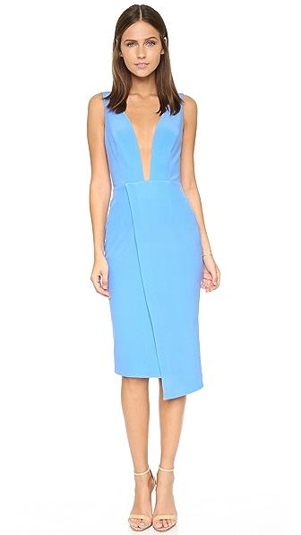 Nicholas Bonded Silk Deep V Dress Shopbop