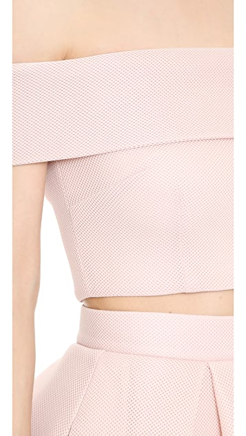 Nicholas Mesh Off Shoulder Top