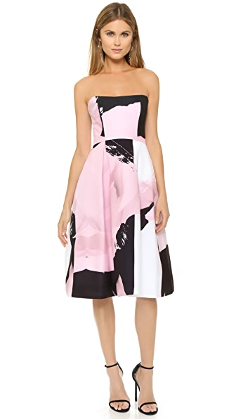 Nicholas Paint Floral Ball Dress